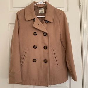 Old Navy camel colored short pea coat size SP